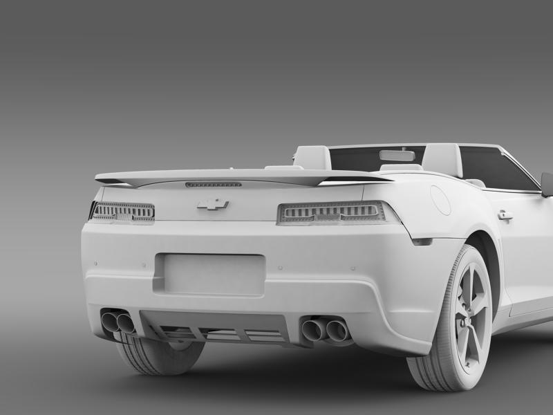 chevrolet camaro rs convertible 2014 3d model 3ds max fbx c4d lwo ma mb hrc xsi obj 160991