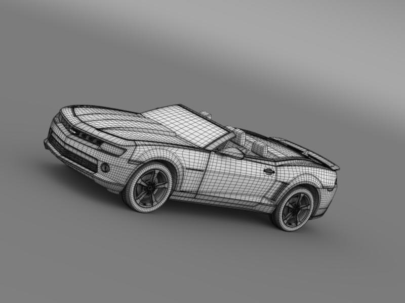 chevrolet camaro rs convertible 2014 3d model 3ds max fbx c4d lwo ma mb hrc xsi obj 160992