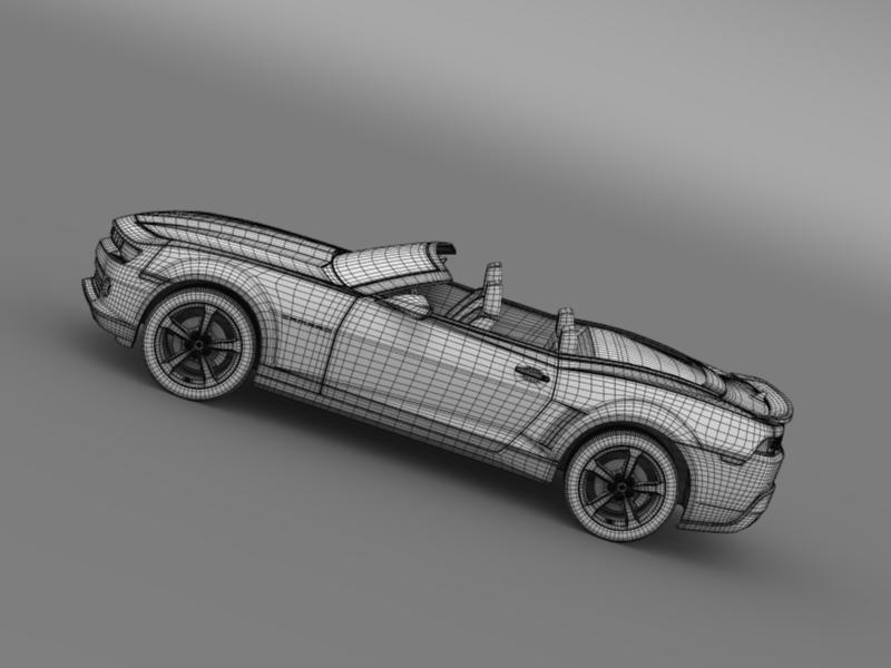 chevrolet camaro rs convertible 2014 3d model 3ds max fbx c4d lwo ma mb hrc xsi obj 160993