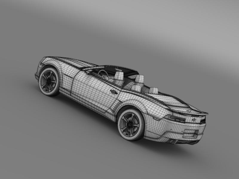 chevrolet camaro rs convertible 2014 3d model 3ds max fbx c4d lwo ma mb hrc xsi obj 160994