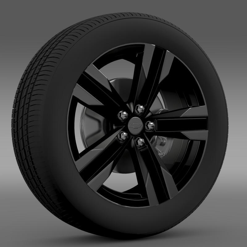 chevrolet camaro sema 2011 wheel 3d model 3ds max fbx c4d lwo ma mb hrc xsi obj 141350