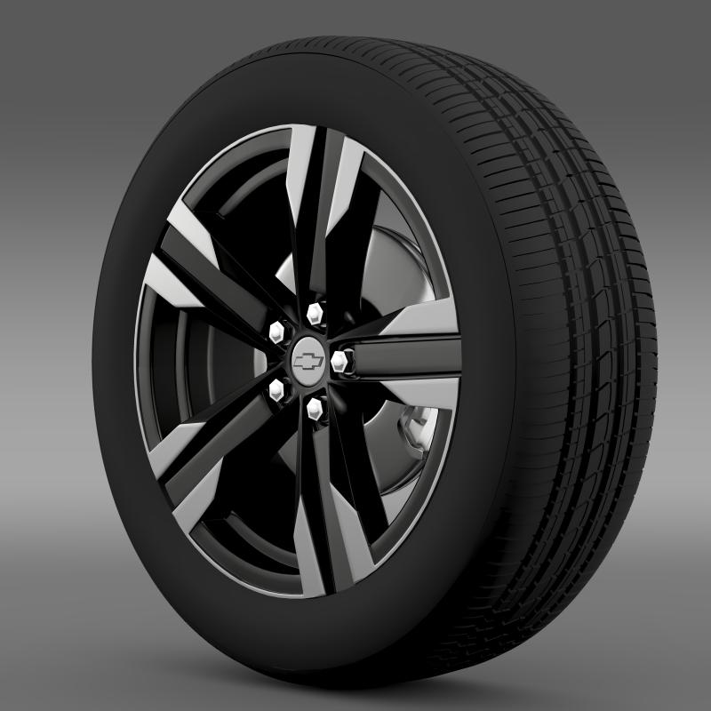 chevrolet camaro sema 2011 wheel 3d model 3ds max fbx c4d lwo ma mb hrc xsi obj 141351