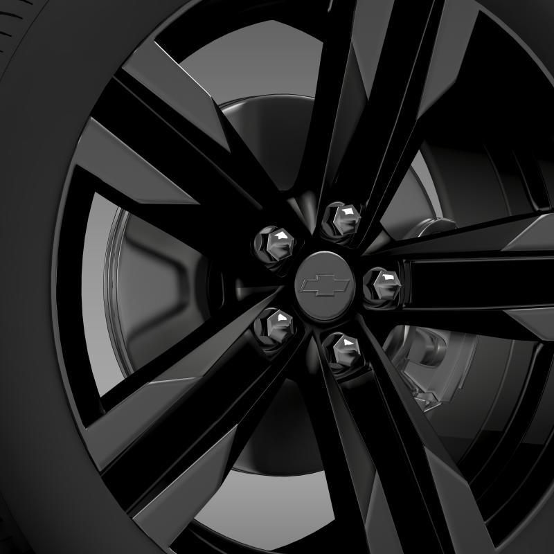 chevrolet camaro sema 2011 wheel 3d model 3ds max fbx c4d lwo ma mb hrc xsi obj 141353