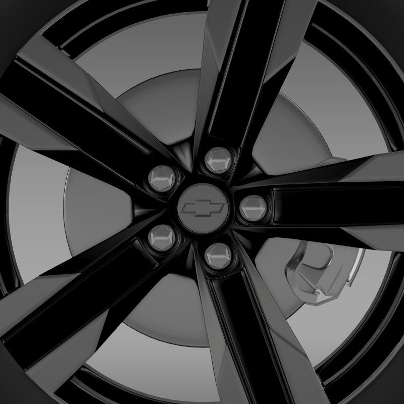 chevrolet camaro sema 2011 wheel 3d model 3ds max fbx c4d lwo ma mb hrc xsi obj 141355