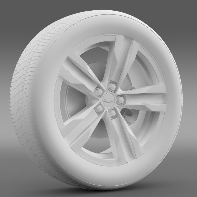 chevrolet camaro sema 2011 wheel 3d model 3ds max fbx c4d lwo ma mb hrc xsi obj 141356