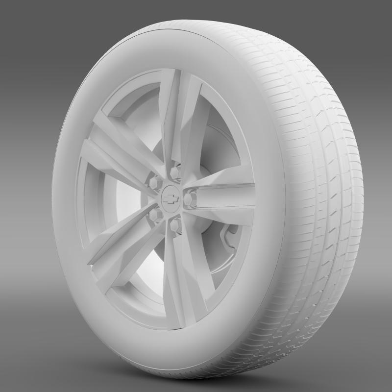 chevrolet camaro sema 2011 wheel 3d model 3ds max fbx c4d lwo ma mb hrc xsi obj 141357