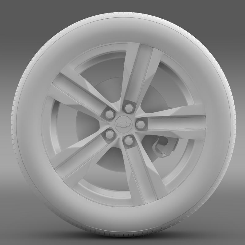 chevrolet camaro sema 2011 wheel 3d model 3ds max fbx c4d lwo ma mb hrc xsi obj 141358