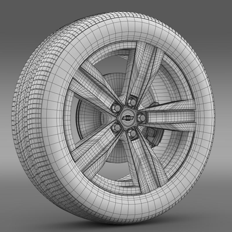 chevrolet camaro sema 2011 wheel 3d model 3ds max fbx c4d lwo ma mb hrc xsi obj 141362