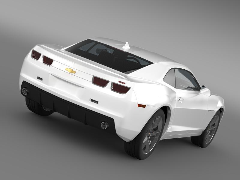 chevrolet camaro ss 2010 3d model 3ds max fbx c4d lwo ma mb hrc xsi obj 148985