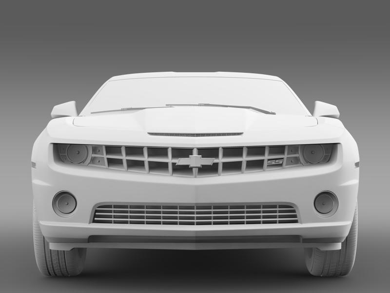 chevrolet camaro ss 2010 3d model 3ds max fbx c4d lwo ma mb hrc xsi obj 148998