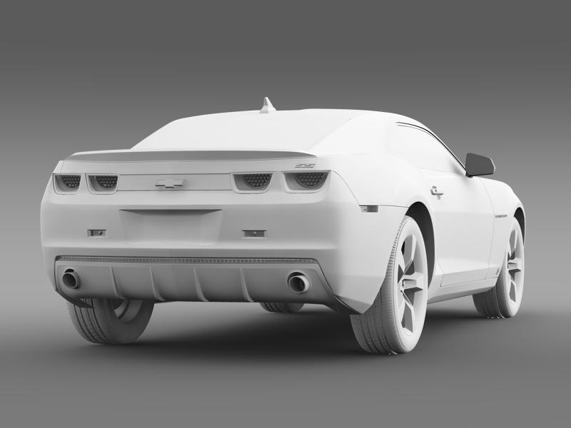 chevrolet camaro ss 2010 3d model 3ds max fbx c4d lwo ma mb hrc xsi obj 149001