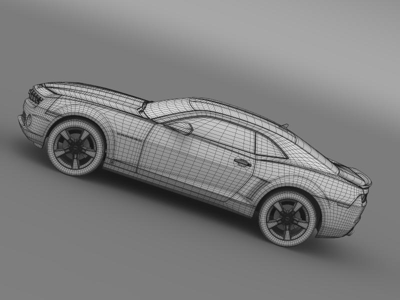 chevrolet camaro ss 2010 3d model 3ds max fbx c4d lwo ma mb hrc xsi obj 149003