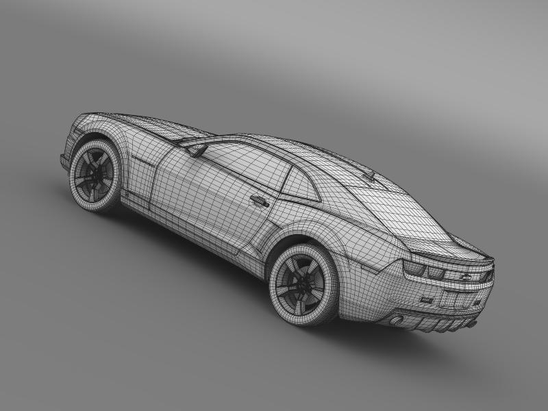 chevrolet camaro ss 2010 3d model 3ds max fbx c4d lwo ma mb hrc xsi obj 149004