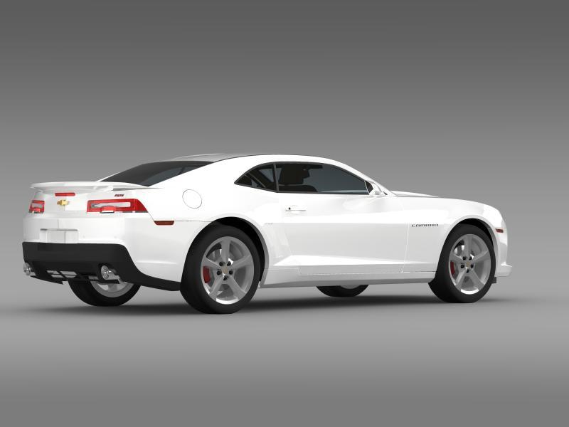 chevrolet camaro ss 2014 3d модел 3ds максимум fbx c4d дво мам hrc xsi obj 161005