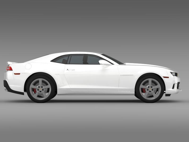 chevrolet camaro ss 2014 3d модел 3ds максимум fbx c4d дво мам hrc xsi obj 161006