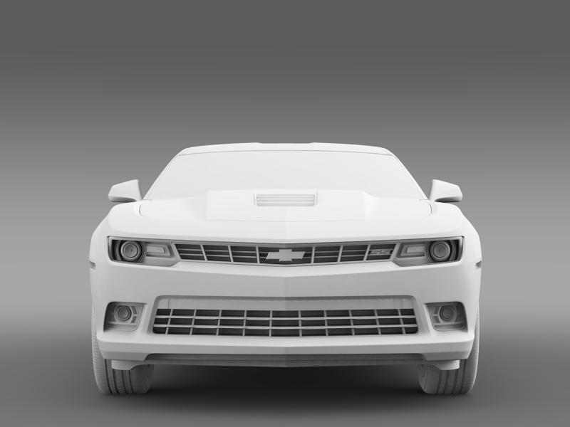 chevrolet camaro ss 2014 3d модел 3ds максимум fbx c4d дво мам hrc xsi obj 161009
