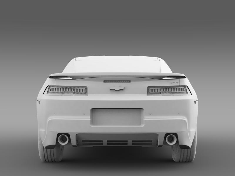 chevrolet camaro ss 2014 3d модел 3ds максимум fbx c4d дво мам hrc xsi obj 161010