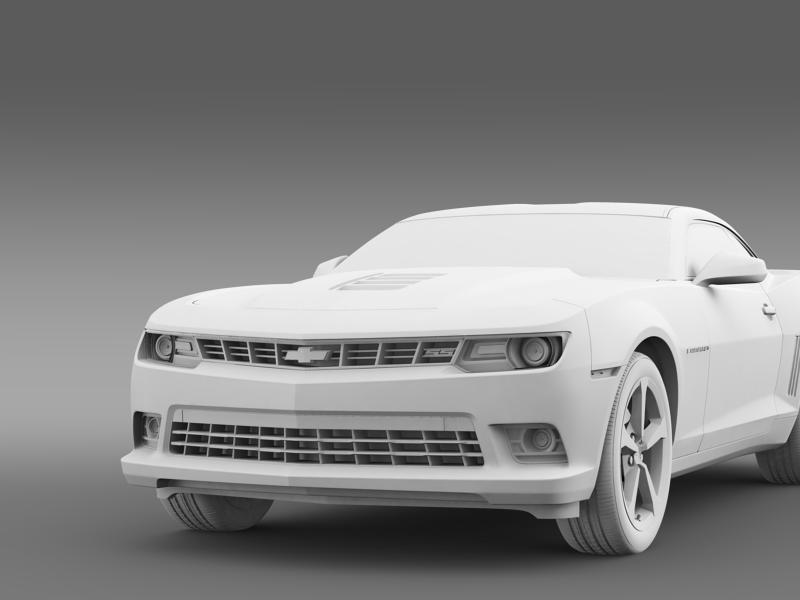 chevrolet camaro ss 2014 3d модел 3ds максимум fbx c4d дво мам hrc xsi obj 161011