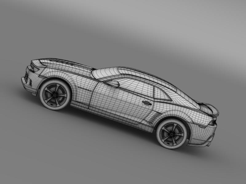 chevrolet camaro ss 2014 3d модел 3ds максимум fbx c4d дво мам hrc xsi obj 161014