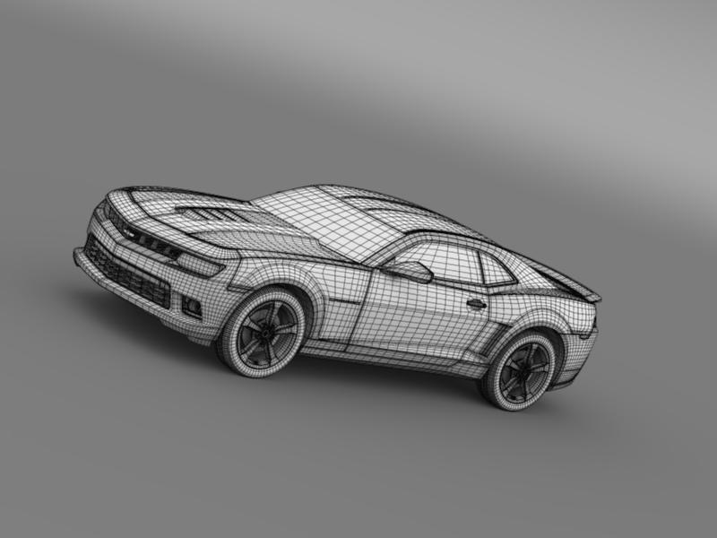 chevrolet camaro ss 2014 3d модел 3ds максимум fbx c4d дво мам hrc xsi obj 161015