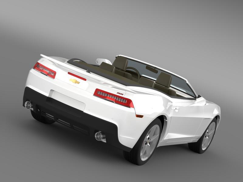 Chevrolet Camaro ss breytanlegur 2014 3d líkan 3ds max fbx c4d lwo ma mb hrc xsi obj 161017