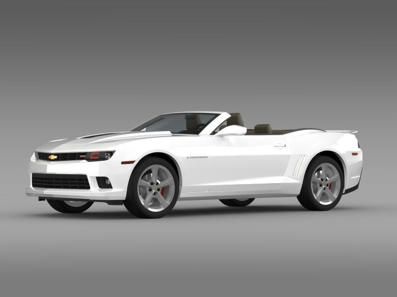 Chevrolet Camaro ss breytanlegur 2014 3d líkan 3ds max fbx c4d lwo ma mb hrc xsi obj 161020
