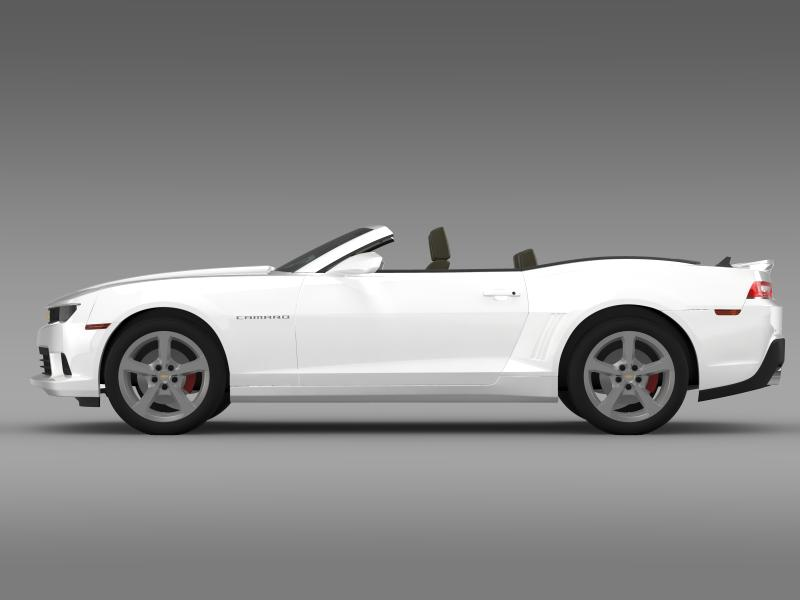 Chevrolet Camaro ss breytanlegur 2014 3d líkan 3ds max fbx c4d lwo ma mb hrc xsi obj 161021