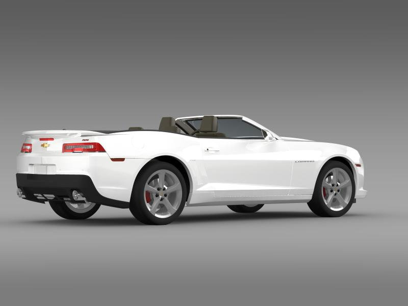 Chevrolet Camaro ss breytanlegur 2014 3d líkan 3ds max fbx c4d lwo ma mb hrc xsi obj 161026