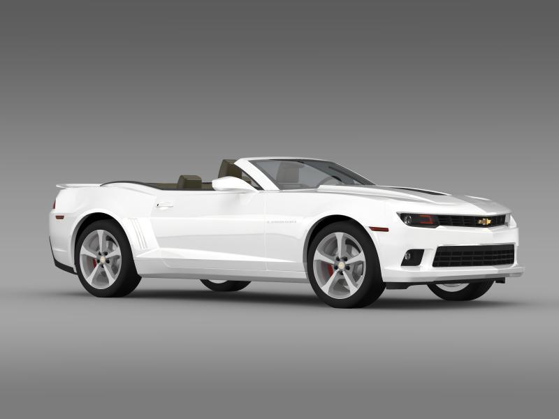 Chevrolet Camaro ss breytanlegur 2014 3d líkan 3ds max fbx c4d lwo ma mb hrc xsi obj 161028