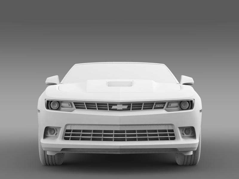 Chevrolet Camaro ss breytanlegur 2014 3d líkan 3ds max fbx c4d lwo ma mb hrc xsi obj 161030