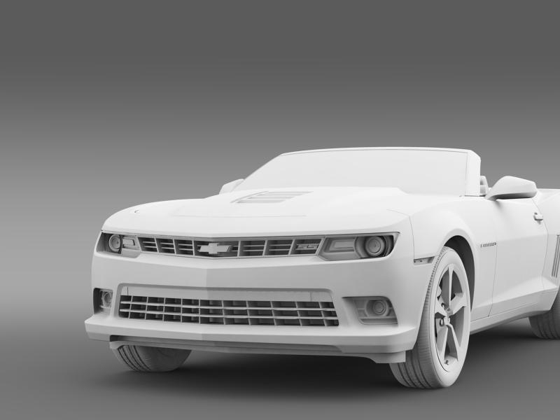 Chevrolet Camaro ss breytanlegur 2014 3d líkan 3ds max fbx c4d lwo ma mb hrc xsi obj 161032