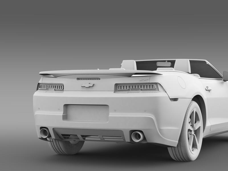 Chevrolet Camaro ss breytanlegur 2014 3d líkan 3ds max fbx c4d lwo ma mb hrc xsi obj 161033