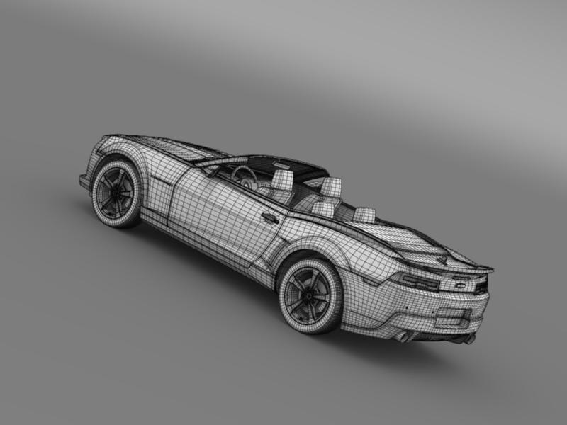 Chevrolet Camaro ss breytanlegur 2014 3d líkan 3ds max fbx c4d lwo ma mb hrc xsi obj 161034