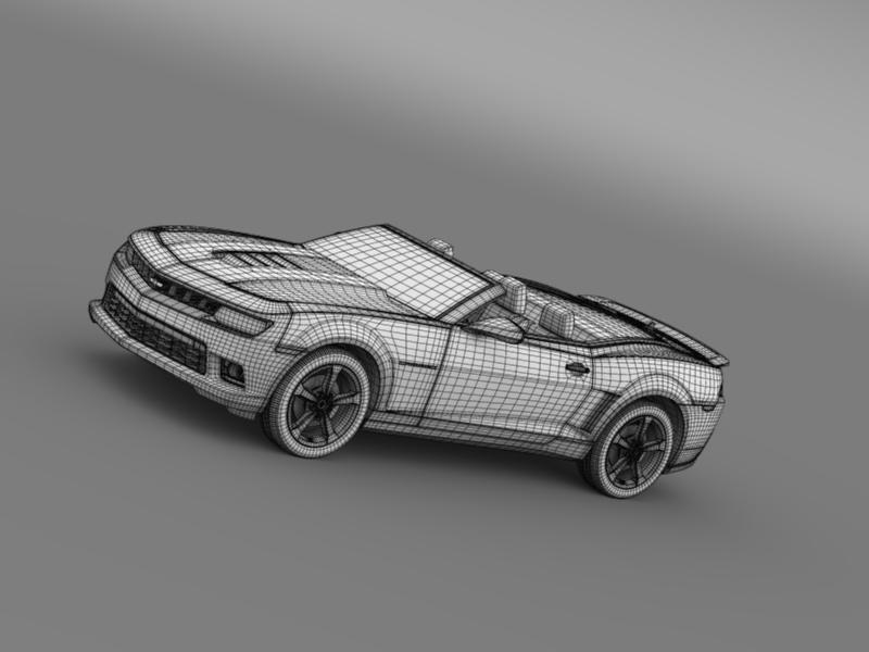 Chevrolet Camaro ss breytanlegur 2014 3d líkan 3ds max fbx c4d lwo ma mb hrc xsi obj 161036