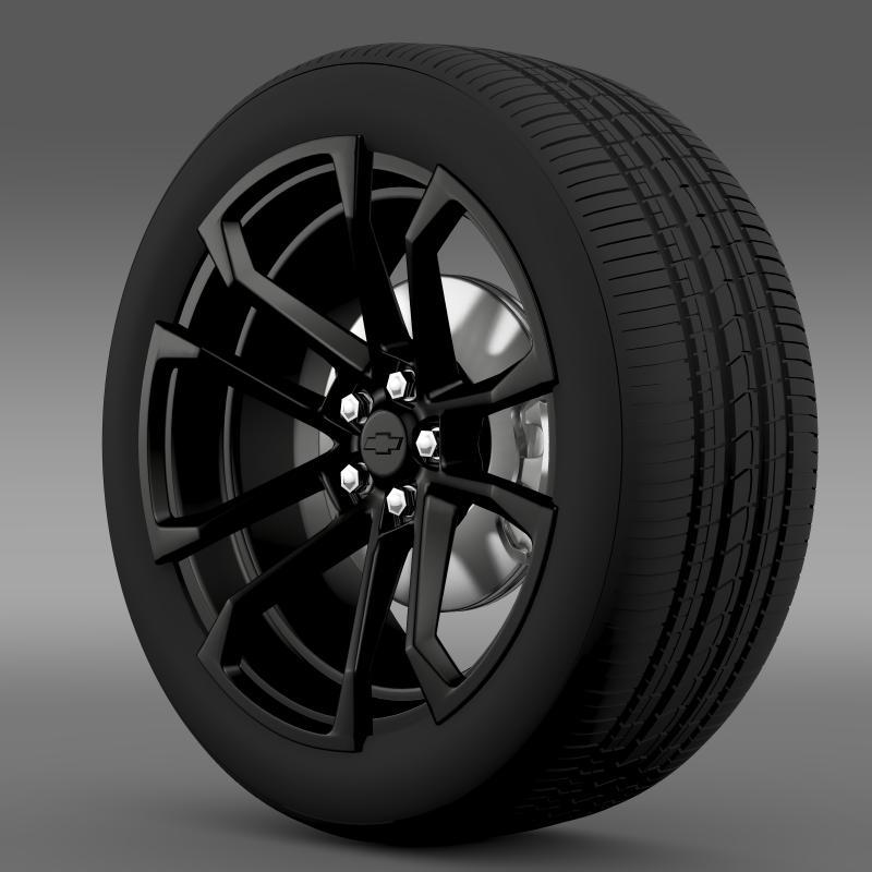 chevrolet camaro ssx concept 2010 wheel 3d model 3ds max fbx c4d lwo ma mb hrc xsi obj 141364