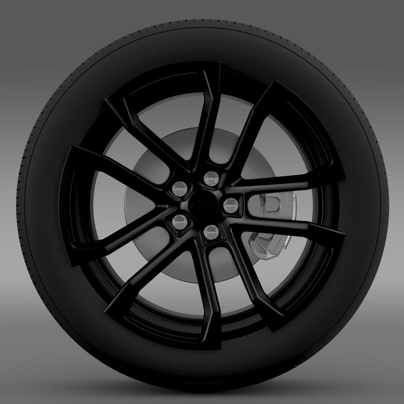 chevrolet camaro ssx concept 2010 wheel 3d model 3ds max fbx c4d lwo ma mb hrc xsi obj 141365