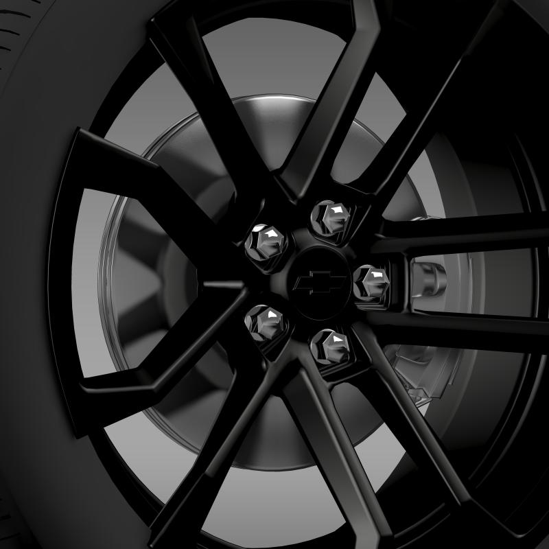 chevrolet camaro ssx concept 2010 wheel 3d model 3ds max fbx c4d lwo ma mb hrc xsi obj 141366