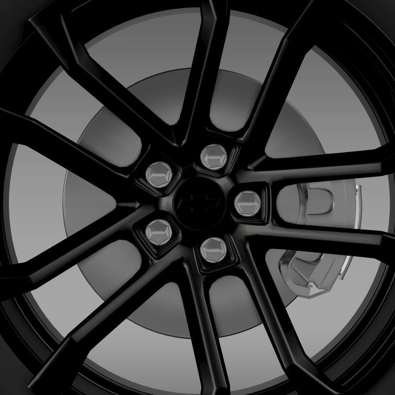 chevrolet camaro ssx concept 2010 wheel 3d model 3ds max fbx c4d lwo ma mb hrc xsi obj 141368