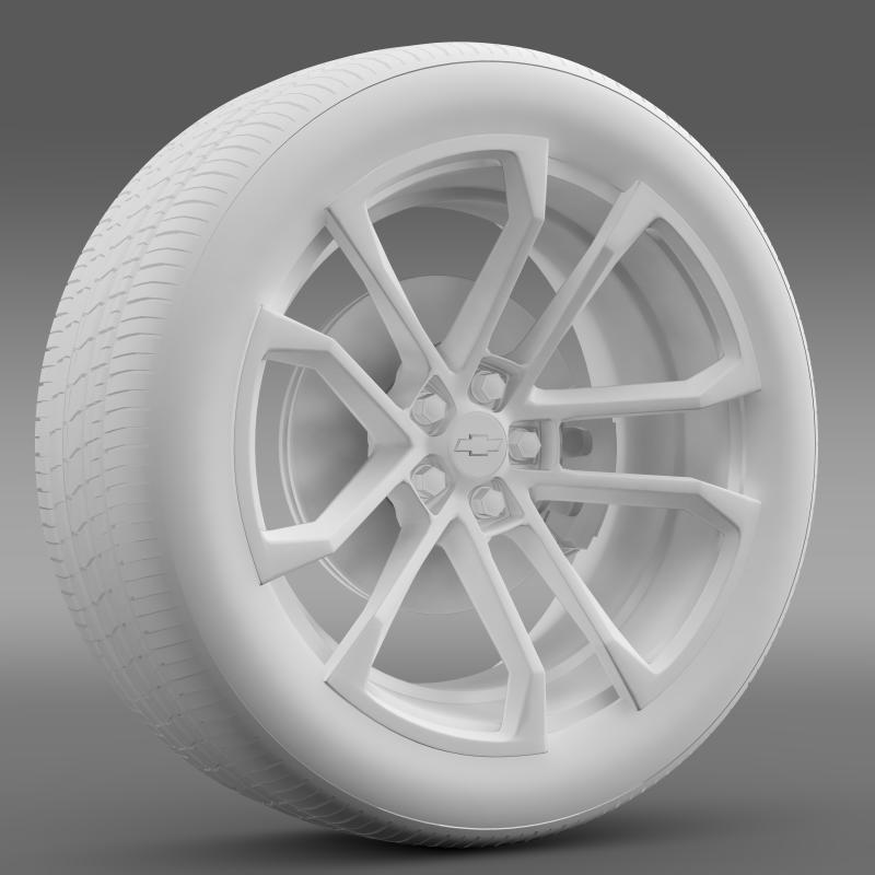 chevrolet camaro ssx concept 2010 wheel 3d model 3ds max fbx c4d lwo ma mb hrc xsi obj 141369