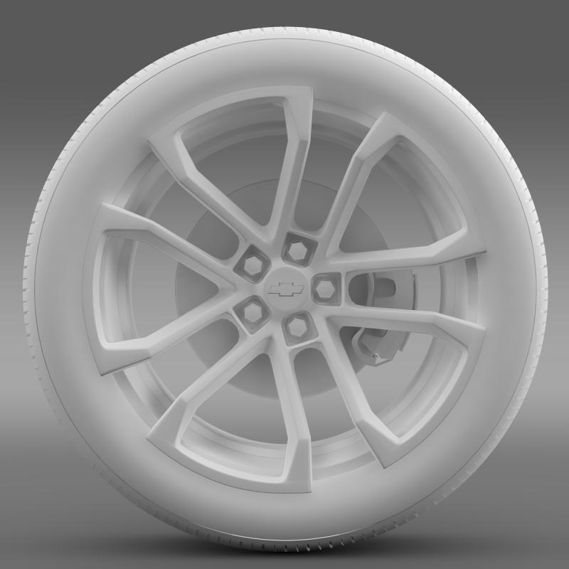 chevrolet camaro ssx concept 2010 wheel 3d model 3ds max fbx c4d lwo ma mb hrc xsi obj 141371