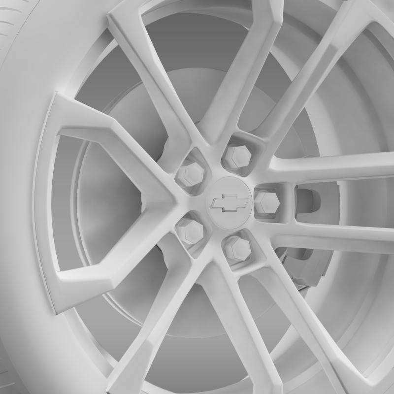 chevrolet camaro ssx concept 2010 wheel 3d model 3ds max fbx c4d lwo ma mb hrc xsi obj 141372