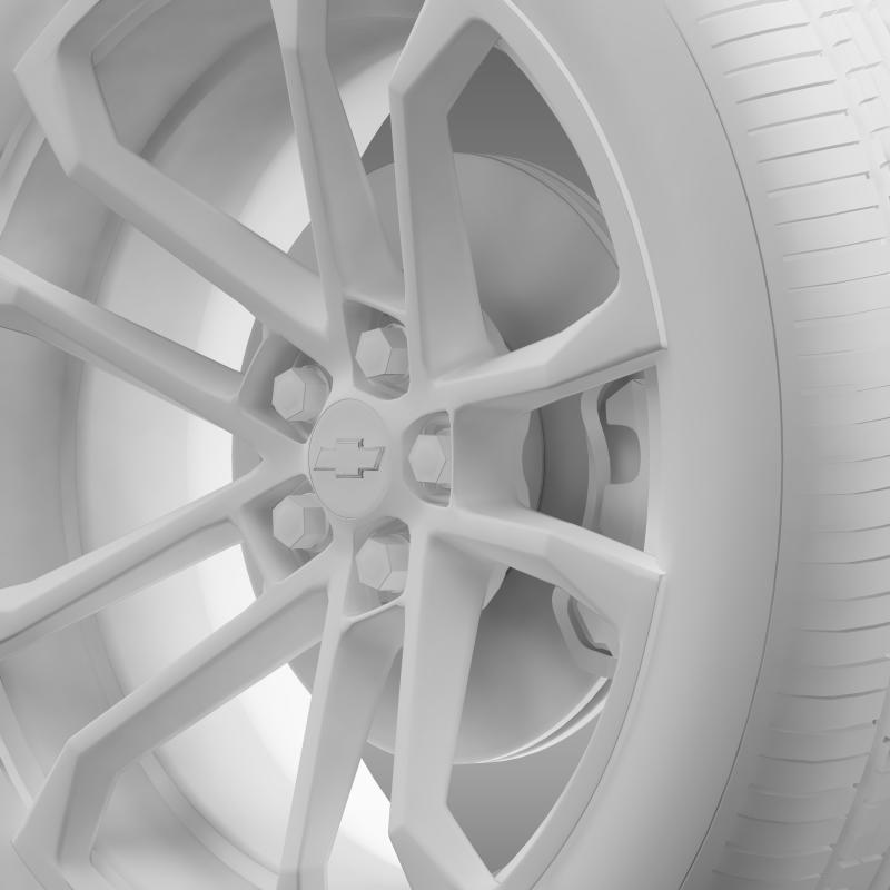 chevrolet camaro ssx concept 2010 wheel 3d model 3ds max fbx c4d lwo ma mb hrc xsi obj 141373