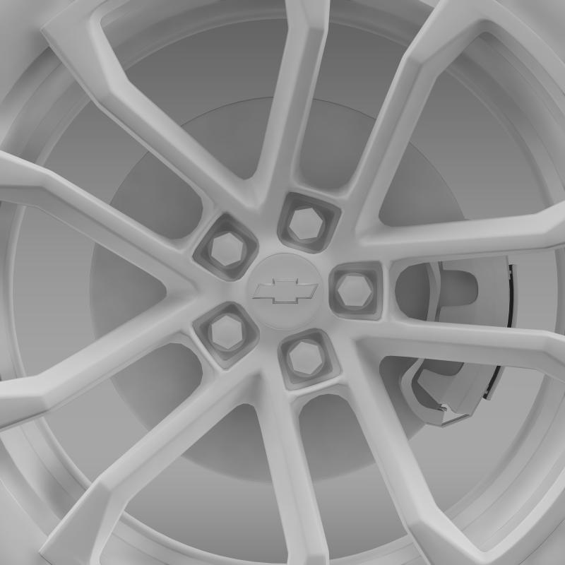 chevrolet camaro ssx concept 2010 wheel 3d model 3ds max fbx c4d lwo ma mb hrc xsi obj 141374
