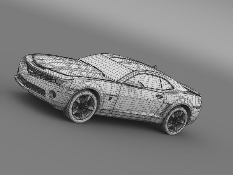 chevrolet camaro transformer 3d model 3ds max fbx c4d lwo ma mb hrc xsi obj 149023
