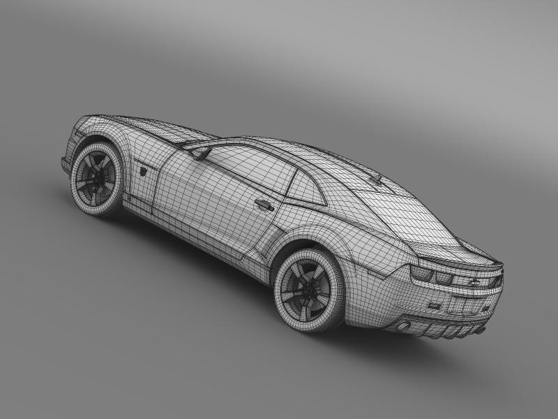 chevrolet camaro transformer 3d model 3ds max fbx c4d lwo ma mb hrc xsi obj 149025