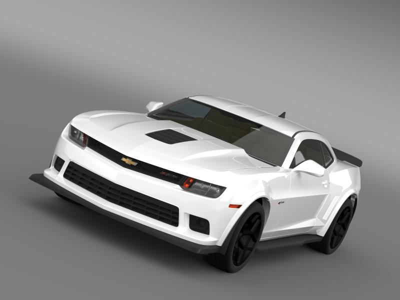 chevrolet camaro z28 2014 3d model 3ds max fbx c4d