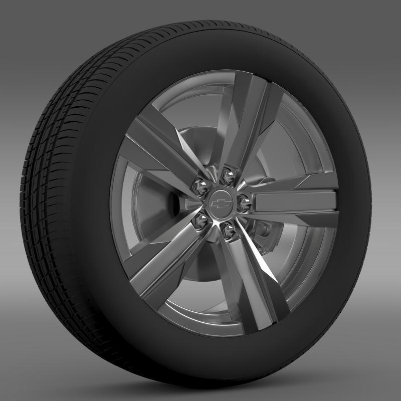 chevrolet camaro zl1 2012 wheel 3d model 3ds max fbx c4d lwo ma mb hrc xsi obj 141376