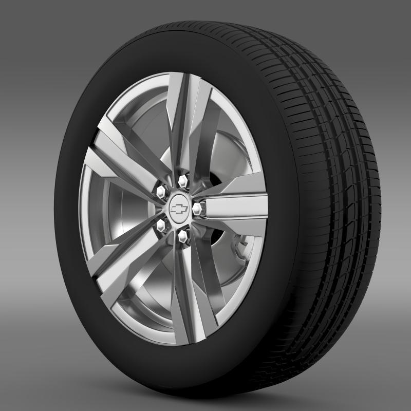 chevrolet camaro zl1 2012 wheel 3d model 3ds max fbx c4d lwo ma mb hrc xsi obj 141377