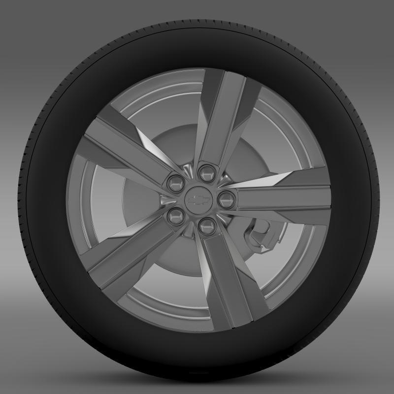 chevrolet camaro zl1 2012 wheel 3d model 3ds max fbx c4d lwo ma mb hrc xsi obj 141378