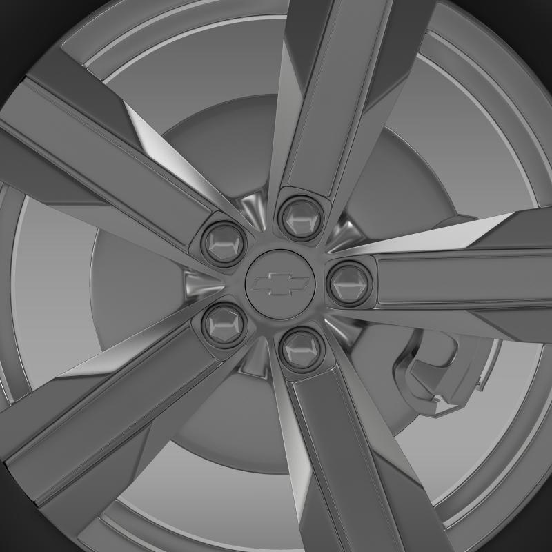 chevrolet camaro zl1 2012 wheel 3d model 3ds max fbx c4d lwo ma mb hrc xsi obj 141381